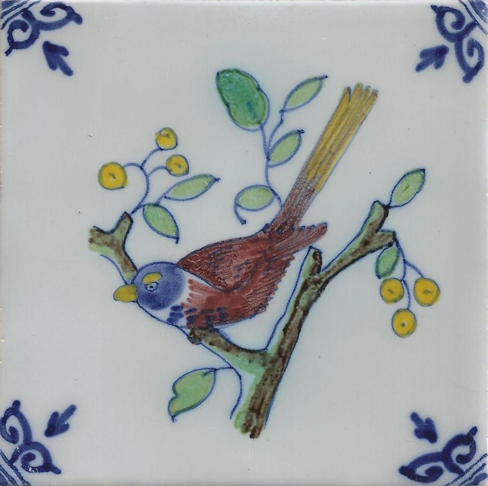 Kwikstaart vogels makkum kleur makkum tegels nieuwe for Tichelaar makkum tegels