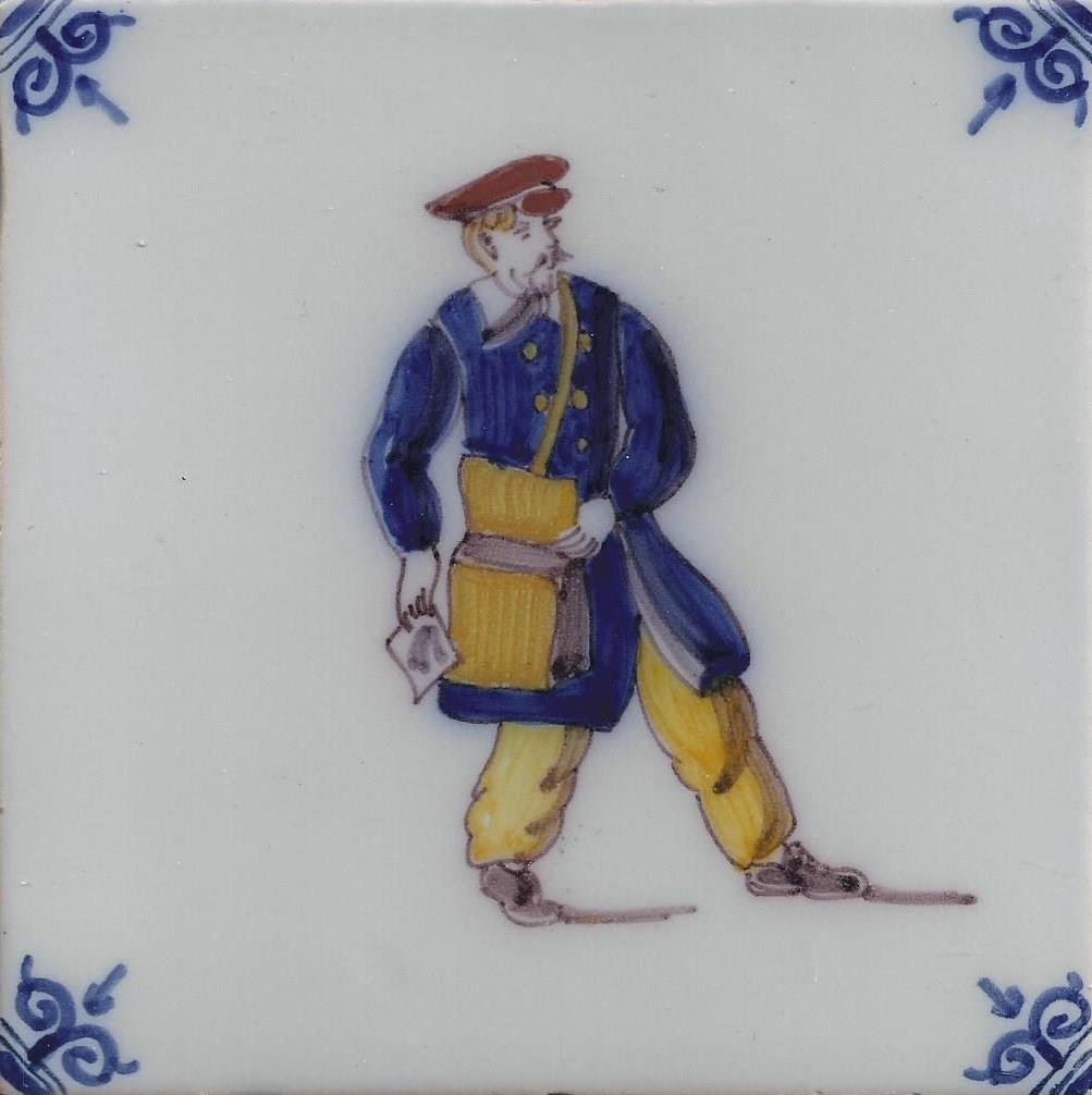 Postbode beroepen makkum kleur makkum tegels nieuwe for Tichelaar makkum tegels