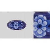 Broche bloem blauw met speld-20