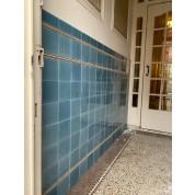 Blauwe hal tegels ca. 1900/ Blue wall tiling ca. 1900-20