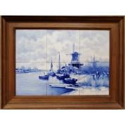 Winters landschap met molens en boten, De Porceleyne Fles-20
