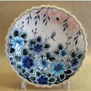 Bord Tellus blauwe bloem 18 cm-20