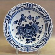 Bord Tellus blauwe bloem 24 cm-20