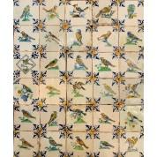Tegelveld met vogels ca. 1620/ Tile compilation with the birds ca. 1620-20