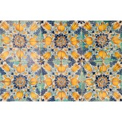Tegelveld met ster decor ca. 1625/ Tile compilation with the star motif ca. 1625-20