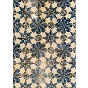 Tegelveld met ster motief ca. 1800/ Set of tiles with star motif ca. 1800-20