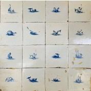 Tegelveld met zeewezens ca. 1675/ Tile compilation with sea creatures ca. 1675-20