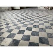 Zwart wit vloertegels/ Black and white checkered floor tiles-20