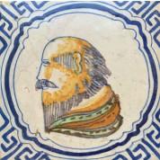 Portret tegel ca. 1630-20