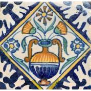 Tegel met een bloempot motief ca. 1625-20