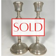 Antique silver candlestick set. Antieke zilveren set kandelaren-20