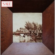 Sepia tile in frame with cows, Rozenburg. Sepia tegel in lijst met koeien, Rozenburg.-20