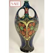 Antique vase with floral decor, Rozenburg. Antieke vaas met bloemdecor, Rozenburg.-20