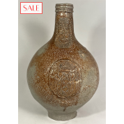 Antique 17th century Bellarmine jug with the coat of arms of the city of Amsterdam. Antieke 17de eeuwse Baardman kruik met het wapen van de stad Amsterdam.-20