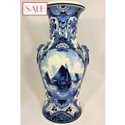 Large vase with boat, Royal Delft. Grote vaas met boot, De Porceleyne Fles.-20