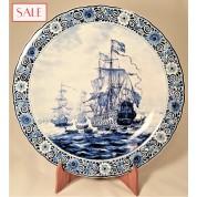 Large plate with ship 7 Provinces, Royal Delft. Groot bord schip de 7 Provinciën, De Porceleyne Fles.-20