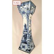 Large, antique vase, Royal Delft. Grote, antieke vaas, De Porceleyne Fles.-20