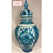 Vase with lid, Royal Delft. Dekselvaas, De Porceleyne Fles.-20