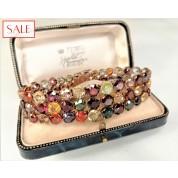 Gold 14K bracelet with several gemstones. Gouden 14K armband met meerdere edelstenen.-20