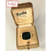 Vintage 14K gold gentleman's ring with heliotrope. Vintage 14K gouden heren ring met heliotroop.-20