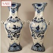 Set of two large vases, Royal Delft. Set van twee grote vazen, De Porceleyne Fles.-20
