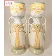 Set of two large vases, Holland Utrecht. Set van twee grote vazen, Holland Utrecht.-20