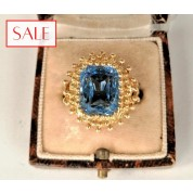 Antique gold 18K ring with topaz. Antieke gouden 18K ring met topaas.-20