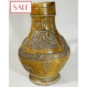 Antique Bellarmine jug, 16th century. Antieke Baardman kruik, 16de eeuw.-20