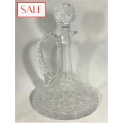 Antique crystal carafe. Antieke kristallen karaf.-20