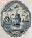 Antique, Delft blue plaque with ships from 1788. Antieke Delftsblauwe plaquette met schepen uit 1788.-07