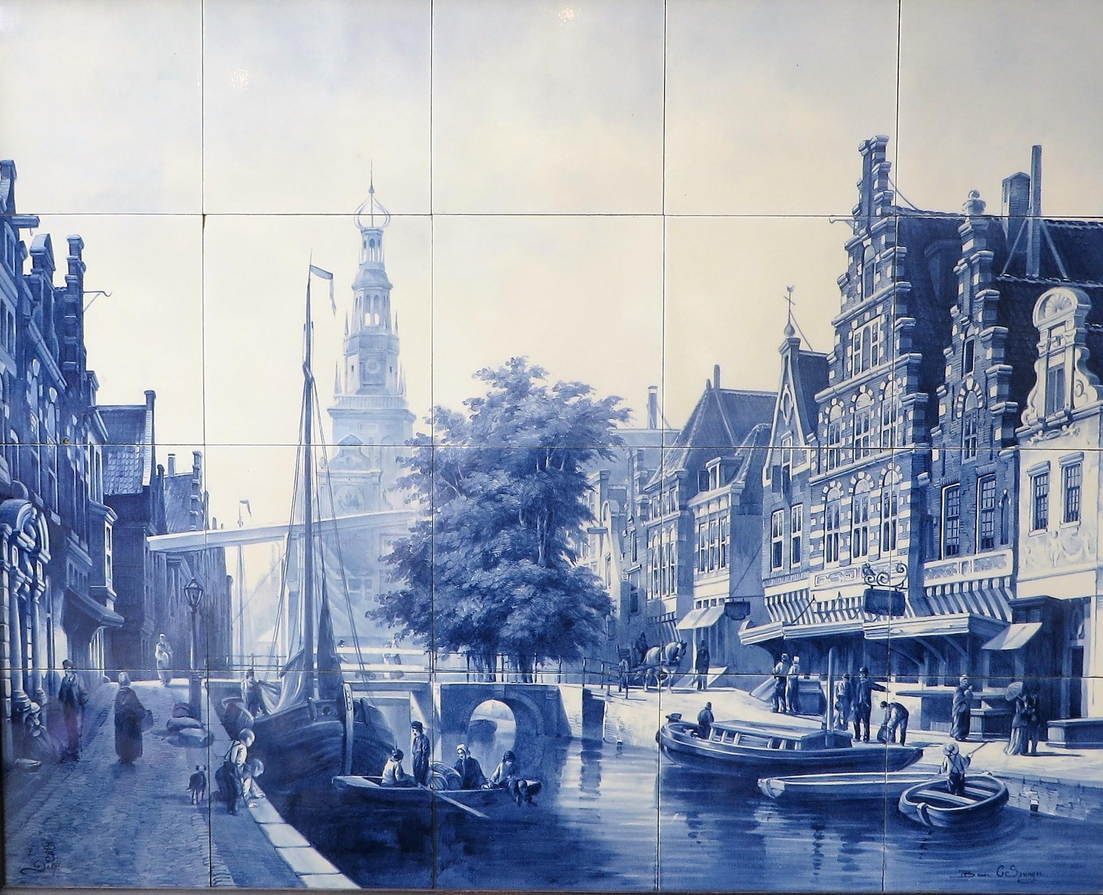 Alkmaar Weigh House Springer - Porceleyne Fles - Tile panels - Tiles ...