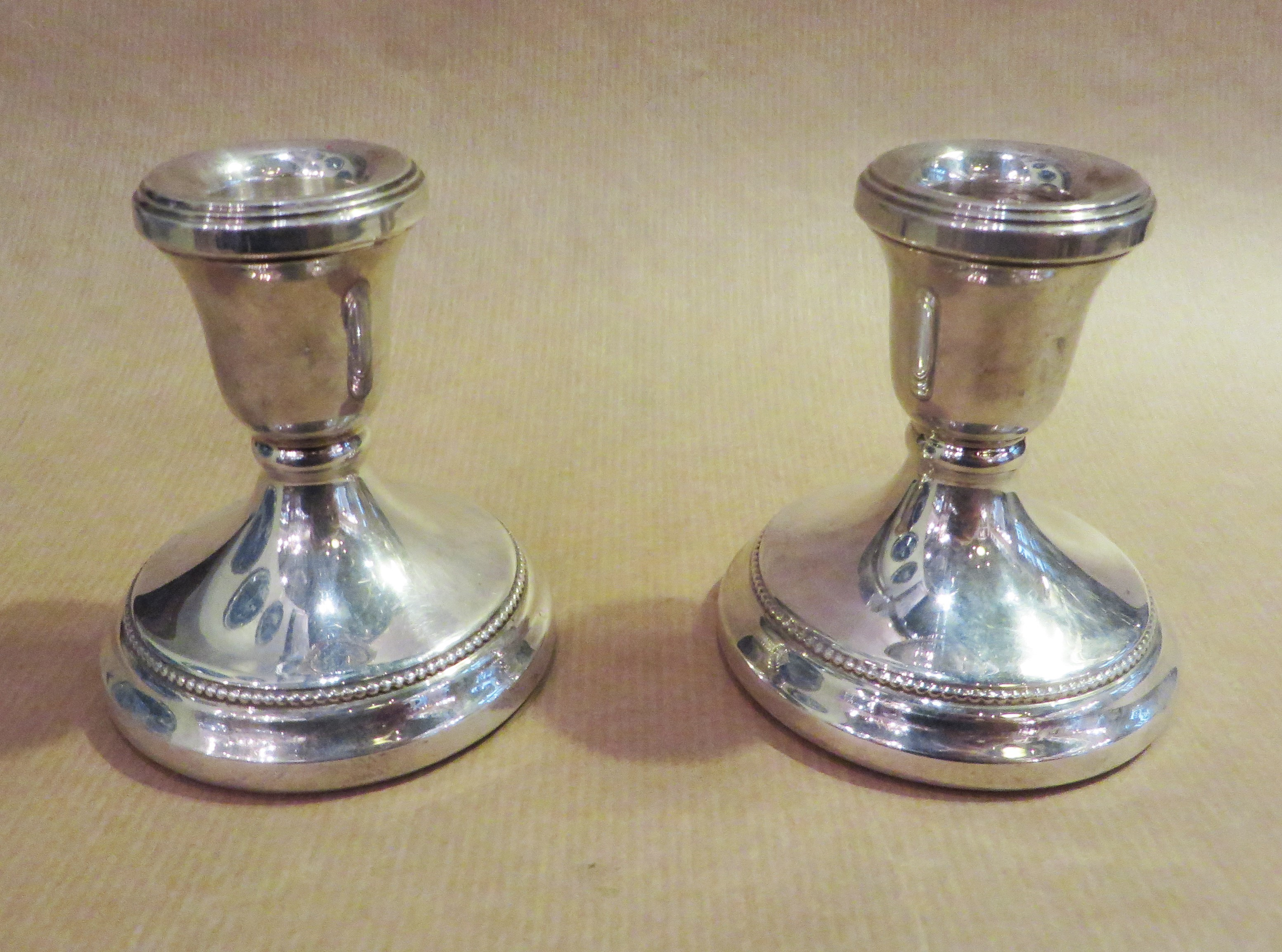 Silver candle holders small
